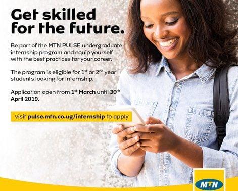 MTN Uganda Undergraduate Internship Programme 2019 for young
