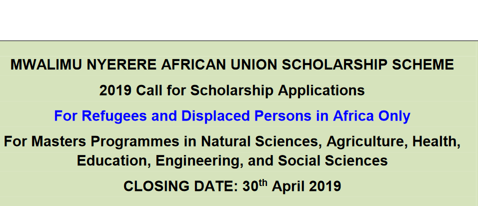 Mwalimu Nyerere African Union Scholarship Scheme 2019 for