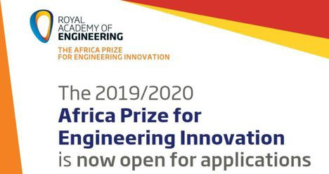 The Africa Prize for Engineering Innovation Open to Applications