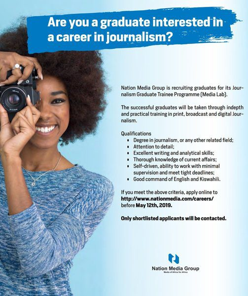 Nation Media Group Journalism Graduate Trainee Programme
