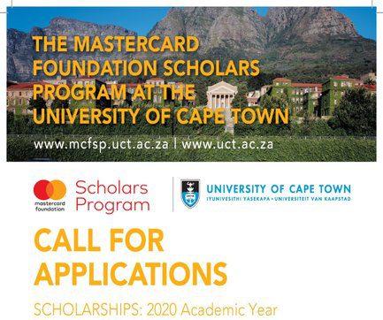 University Of Cape Town MasterCard Foundation Scholars