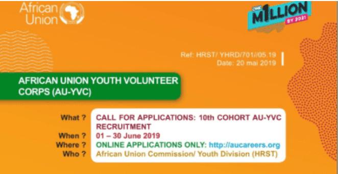 10th Batch African Union Youth Volunteer Corps (AU-YVC) 2019