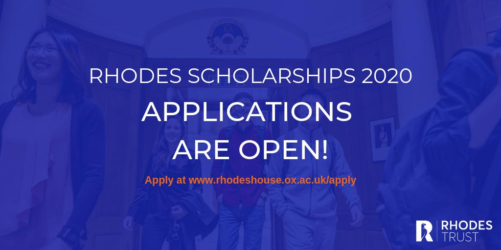 Rhodes Global Scholarships 2020 For Postgraduate Study At