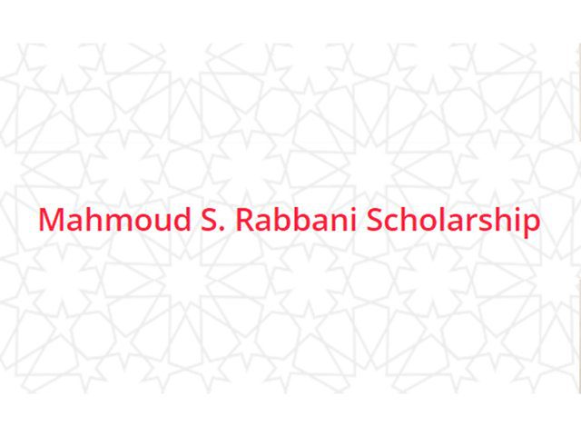 Mahmoud S. Rabbani Scholarship 2021/2022 for MENA Students