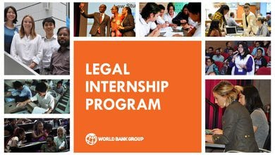 The World Bank Legal Vice Presidency's (LEG VPU) Internship Program Spring 2021 for highly-motivated law students