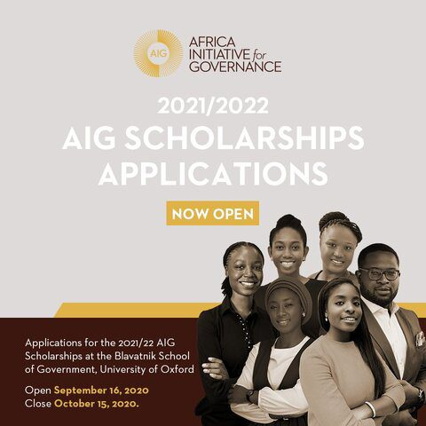 Africa Initiative for Governance (AIG) Scholarships 2021/2022 for Study in the University of Oxford, UK (Fully Funded)
