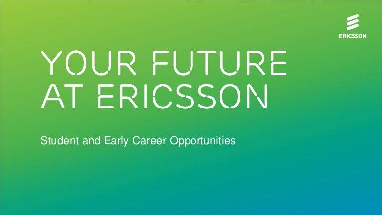 Ericsson Nigeria Graduate Program 2020 for young Nigerian graduates.
