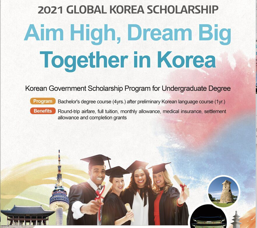 Korean Government Scholarship Program 2021 for Undergraduate study in South Korea (Fully Funded)