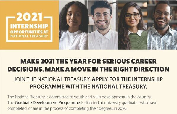 National Treasury Internship Programme 2021 for Young South Africans.