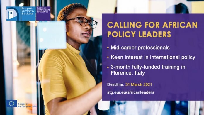 EUI/STG Young African Leaders Programme 2021