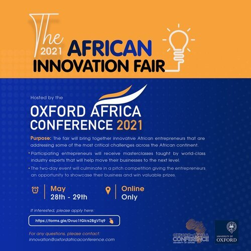 Oxford Africa Conference 2021 Innovation Fair
