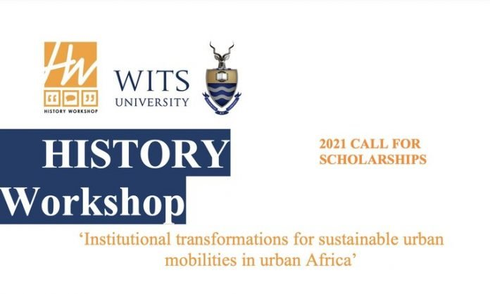 Wits University History Workshop Masters Research Fellowships