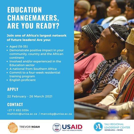 YALI-RLC SA/Trevor Noah Foundation Education Change Makers Programme 2021