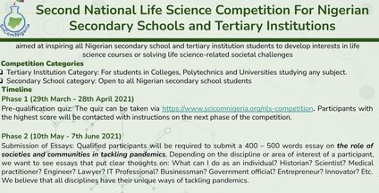 second-national-life-science-competition