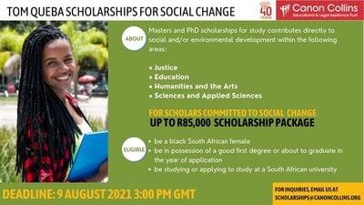 tom-queba-scholarships-2022-for-social-change