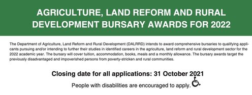 agriculture-land-reform-and-rural-development-busrsary-awards-2022