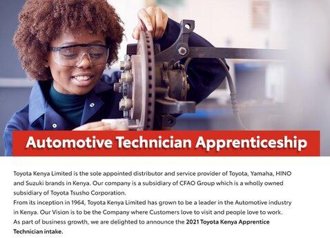 toyota-kenya-automotive-technician-apprenticeship-2021